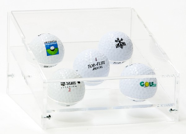 Table Top 5 Golf-Ball Display Case