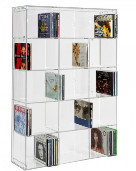 Versatile CD Display Rack With 15 Shelves
