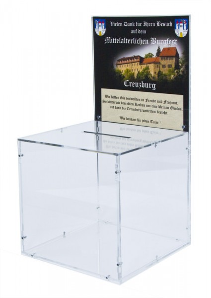 Promotion Box with Sign Holder