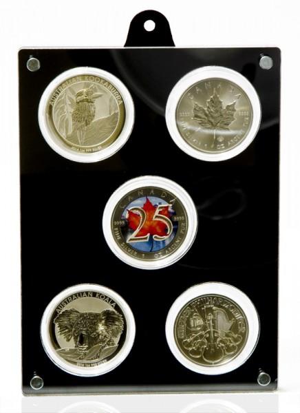 Coin Case for 5 Encapsulated 1oz Silver Coins